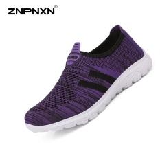 Promo Znpnxn Kaus Wanita Sepatu Olahraga Jaring Kasual Mode Sepatu Outdoor Olahraga Sepatu Kasual Ungu Intl