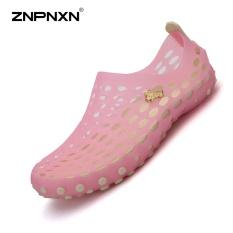 Znpnxn Wanita Sepatu Musim Panas Sandal Sepatu Luar Ruangan Sepatu Jeli Sepatu Sandal Wanita Sepatu Gunung Khusus Di Air Kasual Modis Sepatu Pantai Ukuran 35-39 Meter (Merah Muda)