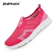 Model Znpnxn Kaus Wanita Sepatu Super Light Running Shoes Flat Sepatu Wanita Kain Bersih Sepatu Nyaman Breathable Slip On Shoes Wanita Sapato Feminino Ukuran 36 40 Meter Rose Terbaru