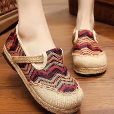Spesifikasi Znpnxn Kaus Wanita Thailand Sepatu Straw Shoes Lace Up Shoes Mocassins Loafer Brown Yang Bagus Dan Murah