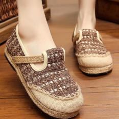 Diskon Znpnxn Kaus Wanita Thailand Sepatu Straw Sepatu Silp On Sepatu Mocassins Loafer Brown Znpnxn Di Tiongkok