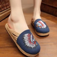 Toko Znpnxn Kaus Wanita Thailand Sepatu Straw Sepatu Slip Ons Sepatu Mocassins Loafer House Sandal Biru Znpnxn Online