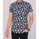 Spesifikasi Zoeystore 5463 Kemeja Printing Pria Lengan Pendek Exclusive Baju Kemeja Cowok Formal Kerja Kantoran Hitam Kemeja Pantai Motif Kelapa Kemeja Terbaru