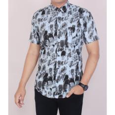 Jual Zoeystore 5466 Kemeja Printing Pria Lengan Pendek Exclusive Baju Kemeja Formal Cowok Kerja Kantoran Biru Kemeja Pantai Kemeja Di Dki Jakarta