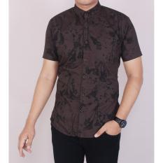 Spesifikasi Zoeystore 5468 Kemeja Printing Pria Lengan Panjang Exclusive Baju Kemeja Printing Cowok Kerja Kantoran Coklat Kemeja Motif Pantai Terbaru