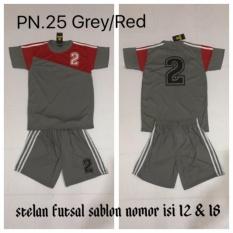 Zone Sport - Setelan Baju Kaos Jersey Bola Futsal Sepakbola Voli SPN.25G/R