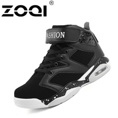 ZOQI Sepatu Basket Ukuran Besar Anti Slip Outdoor Sport Athletic Ankle Boots Olahraga Shoes (Hitam)-Intl