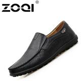 Beli Zoqi Ukuran Besar Sepatu Mengemudi Slip Ons Loafer Rekreasi Kasual Sepatu Datar Hitam Zoqi