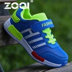 Diskon Besarzoqi Boy S Fashion Sneaker Sport Shoes Cahaya Bernapas Kasual Sepatu Biru Intl