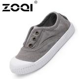 Beli Zoqi Boy S Dan Santai Anak Perempuan Sepatu Fashion Baby Canvas Shoes Grey Intl Online Tiongkok