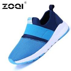 Beli Zoqi Boy And Gadis S Fashion Sneaker Bernapas Olahraga Sepatu Pria Biru Online Murah