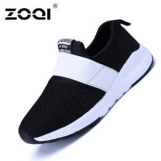 ZOQI Boy And Gadis's Fashion Sneaker Bernapas Olahraga Sepatu (Putih & HITAM)