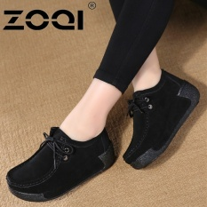 Tips Beli Zoqi Sepatu Casual Wanita Terang Ringan Fashion Sepatu Hitam Intl