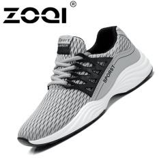 Promo Zoqi Mode Sepatu Lari Berkualitas Tinggi Olahraga Sepatu Abu Abu
