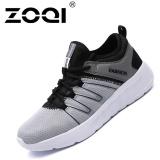 Toko Zoqi Rekreasi Olahraga Sepatu Pria Fashion Sneaker Abu Abu Hitam Intl Termurah