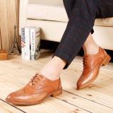 Beli Zoqi Pria Formal Rendah Memotong Sepatu Kulit Asli Gaya Brogue Sepatu Cokelat Intl Secara Angsuran