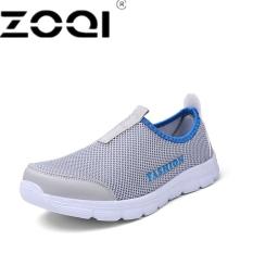 ZOQI Pria Fashion Slip-ons Berlari Sepatu Olahraga Sepatu (Abu-abu Terang) f569768c4c