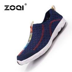 Toko Zoqi Pria Dan Wanita S Fashion Sports Outdoors Sepatu Olahraga Sepatu Air Sepatu Biru Tua Intl Terdekat
