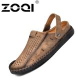 Spesifikasi Zoqi Pria Fashion Kasual Beach Sepatu Musim Panas Sandal Sandal Khaki Lengkap