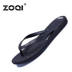 ZOQI Pria Fashion Flip Flops   Sandal Sepatu Kasual Jepit Pantai  (Hitam)-Intl a6561854e9