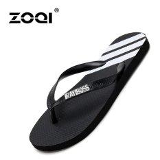 Katalog Zoqi Pria Fashion Flip Flops Hitam Zoqi Terbaru