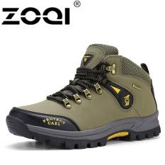 Harga Zoqi Pria Fashion Tinggi Kualitas Outdoor Sport Sepatu Hiking Sepatu Hijau Intl Terbaik