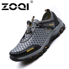 Harga Zoqi Men S Outdoor Hiking Shoes Breathable Climbing Shoes Grey Intl Paling Murah