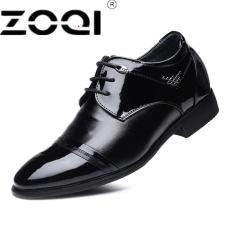 ZOQI Handmade Men Formal Dress Baru Tiba Sepatu Pernikahan Oxfords Runcing Ujung Pesta Flats