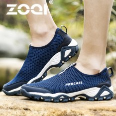 Jual Zoqi Pria Fashion Olahraga Sepatu Outdoor Hiking Sepatu Biru Intl Branded Murah