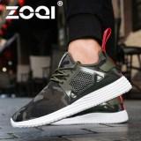Harga Zoqi Pria Fashion Sepatu Sneakers Olahraga Sepatu Sepatu Lari Hijau Di Tiongkok