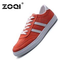 Dimana Beli Zoqi Musim Semi Dan Musim Panas Kanvas Sepatu Siswa Sepatu Kasual Oranye Intl Zoqi