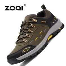 Obral Zoqi Musim Panas Pria Fashion Sneakers Outdoor Olahraga Kasual Bernapas Nyaman Sepatu Hijau Army Intl Murah