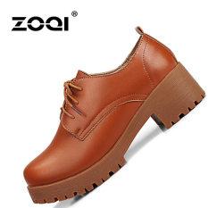 Jual Zoqi Musim Panas Wanita Tertutup Toe Wedges Kulit Asli Meningkatkan Santai Nyaman Sepatu Cokelat Intl Tiongkok