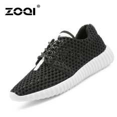 Spek Zoqi Musim Panas Wanita Fashion Sepatu Sepatu Olahraga Kasual Bernapas Nyaman Sepatu Hitam Zoqi