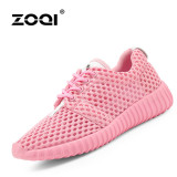Beli Zoqi Musim Panas Wanita Fashion Sepatu Sepatu Olahraga Kasual Bernapas Nyaman Sepatu Merah Muda Intl Dengan Kartu Kredit