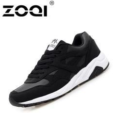 Harga Zoqi Unisex Fashion Sneaker Pria Dan Wanita Sepatu Kasual Olahraga Hitam Intl Termahal