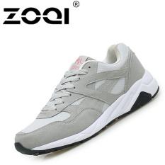 Beli Zoqi Unisex Fashion Sneaker Pria Dan Wanita Sepatu Kasual Olahraga Grey Intl Online Tiongkok