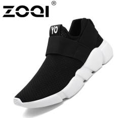 Harga Zoqi Unisex Menjalankan Sepatu Cahaya Bernapas Olahraga Sneaker Sepatu Pria Hitam Murah