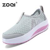 Review Pada Zoqi Wanita Fashion Sepatu Sepatu Olahraga Kasual Bernapas Nyaman Sepatu Abu Abu Intl
