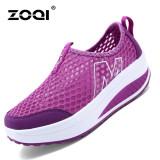 Jual Zoqi Wanita Fashion Sepatu Sepatu Olahraga Kasual Bernapas Nyaman Sepatu Ungu Intl Di Tiongkok