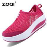 Spesifikasi Zoqi Wanita Fashion Sepatu Sepatu Olahraga Kasual Bernapas Nyaman Sepatu Merah Intl Bagus
