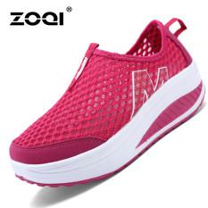 Harga Termurah Zoqi Wanita Fashion Sepatu Sepatu Olahraga Kasual Bernapas Nyaman Sepatu Merah Intl