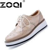 Cara Beli Zoqi Wanita Platform Sepatu Wedges Fashion High Heels Sepatu Elevator Shoe Beige