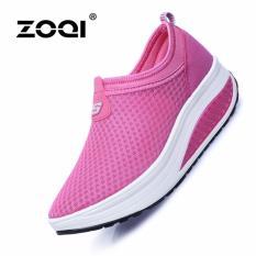 Beli Zoqi Women S Mesh Breathable Olahraga Sepatu Sepatu Lari Rose Intl Online Tiongkok