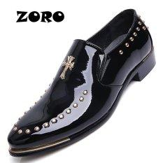 Situs Review Zoro 2017 Luxury Brand New Pria Gaun Slip On Oxford Sepatu Hitam Intl