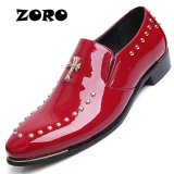 Top 10 Zoro 2017 Luxury Brand New Pria Gaun Slip On Oxford Sepatu Merah Intl Online