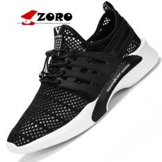 Cara Beli Zoro 2017 Pendatang Baru Original Brand Pria Olahraga Menjalankan Sepatu Bernapas Mesh Athletic Cushion Sneakers Kasut Lelaki Hitam Intl