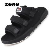 Beli Zoro Fashion Pria Slide Hot Sale Sepatu Musim Panas Untuk Cut Out Flat Sandal Sandal Pantai Nyaman Sandal Flip Flops Hitam Intl Zoro Dengan Harga Terjangkau
