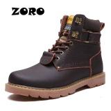 Beli Zoro Fashion Pria Sepatu Bot Salju Musim Dingin Dari Top Quality Male Ankle Sepatu Bot Sepatu Bot Martin Ukuran 38 46 Dark Brown Intl Cicil