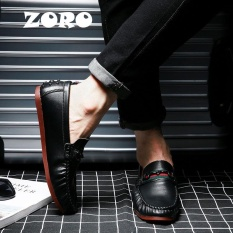 Beli Zoro Fashion Musim Semi Musim Gugur Gaya Lembut Moccasins Pria Loafers Asli Berkualitas Tinggi Kulit Sepatu Pria Oxford Flat Driving Shoes Hitam Intl Cicilan